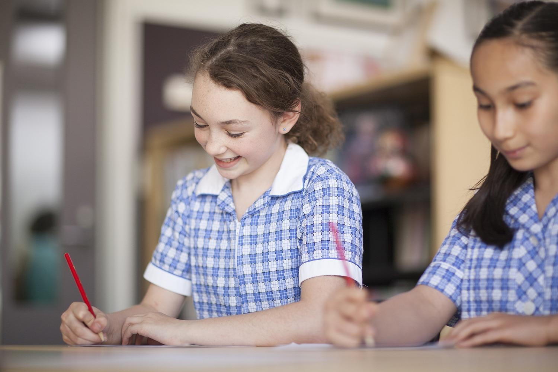 girls school learning