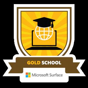 Microsoft gold emblem