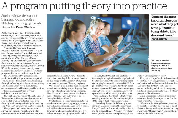 200816 The Age advertorial - a program putting theory into practice