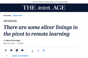 Remote learning silver linings